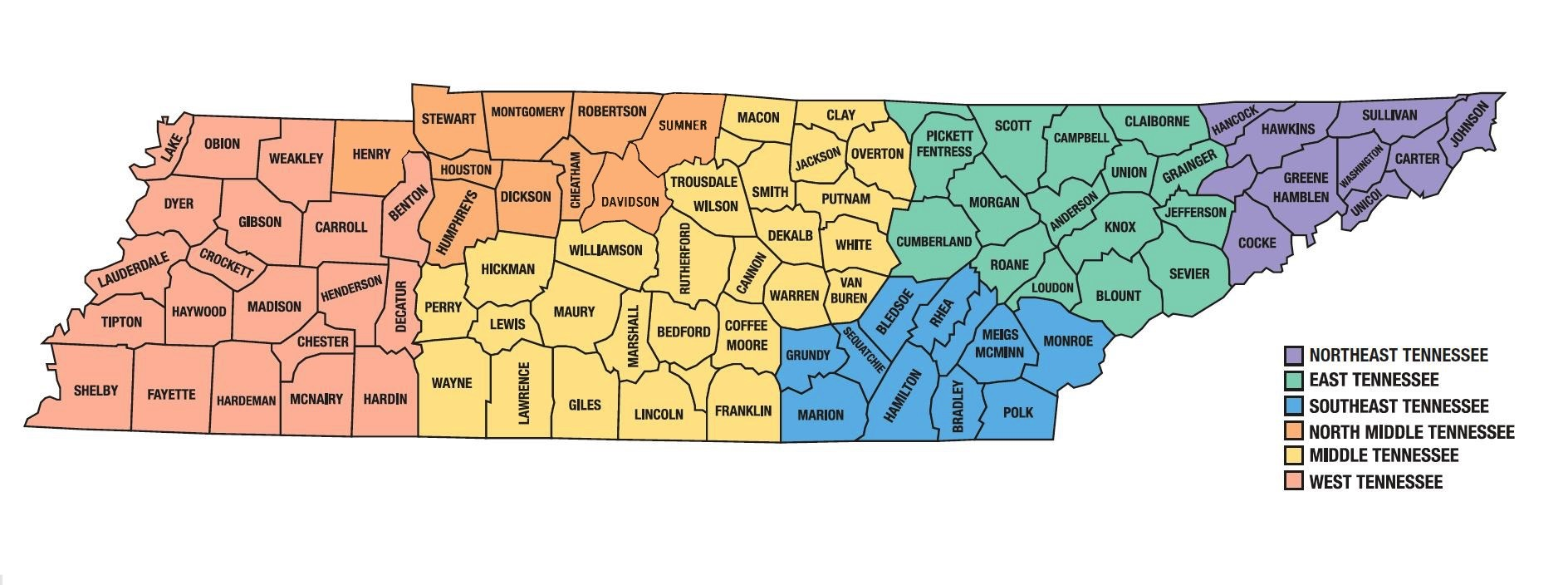 Tennessee Map of Counties Tennessee History Day