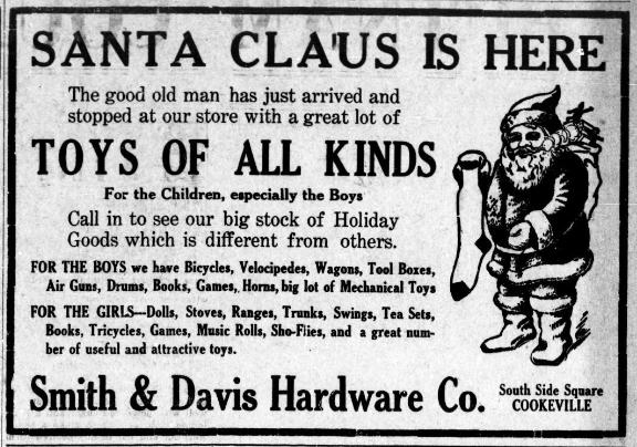 Christmas Toys Ad, December 1913