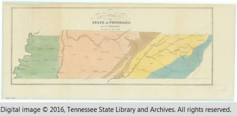 Map of Tennessee, Tennessee culture, politics and history from the Tennessee state Historical Society.